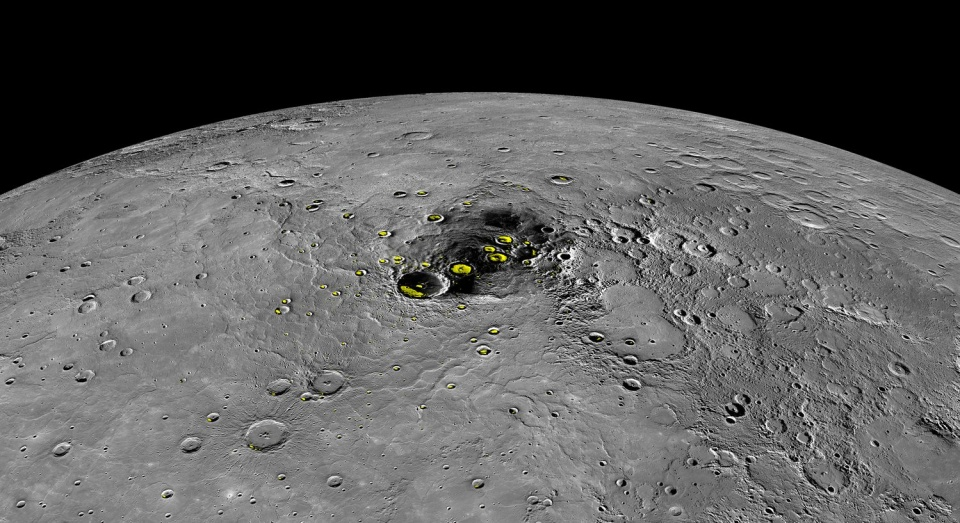 2019-01-28 Mercury ice MESSENGER © NASA