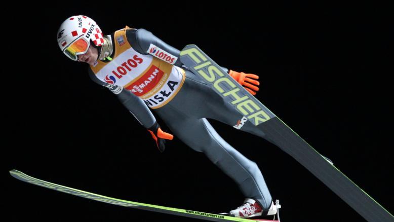 Polski zawodnik utrzymał pierwsze miejsce w klasyfikacji generalnej. Fot. PAP/Grzegorz Momot