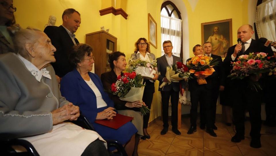 108. urodziny Elżbiety Rogali/fot. Mikołaj Kuras