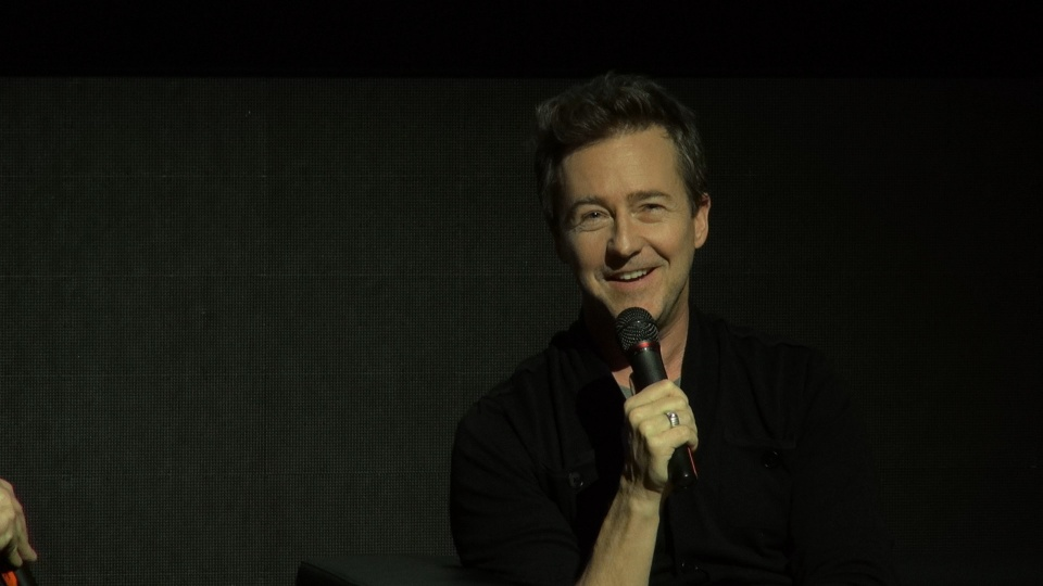 Edward Norton i Dick Pope (jw)